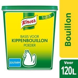 Knorr 1-2-3 Kippenbouillon Poeder zoutarm -