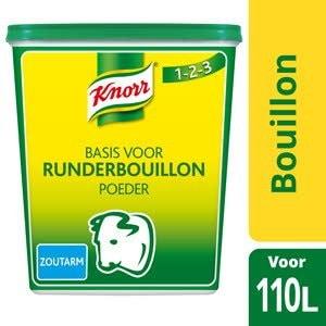 Knorr Bouillon de Boeuf en poudre pauvre en sel -