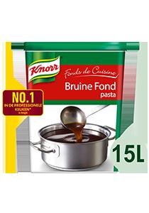 "Knorr Fonds de Cuisine Bruine Fond - ""Voor mijn stoofvlees kies ik de N°1 van de fonds in professionele keukens."" Serge Lambilliotte, La brasserie RN, Louvain-la-Neuve"