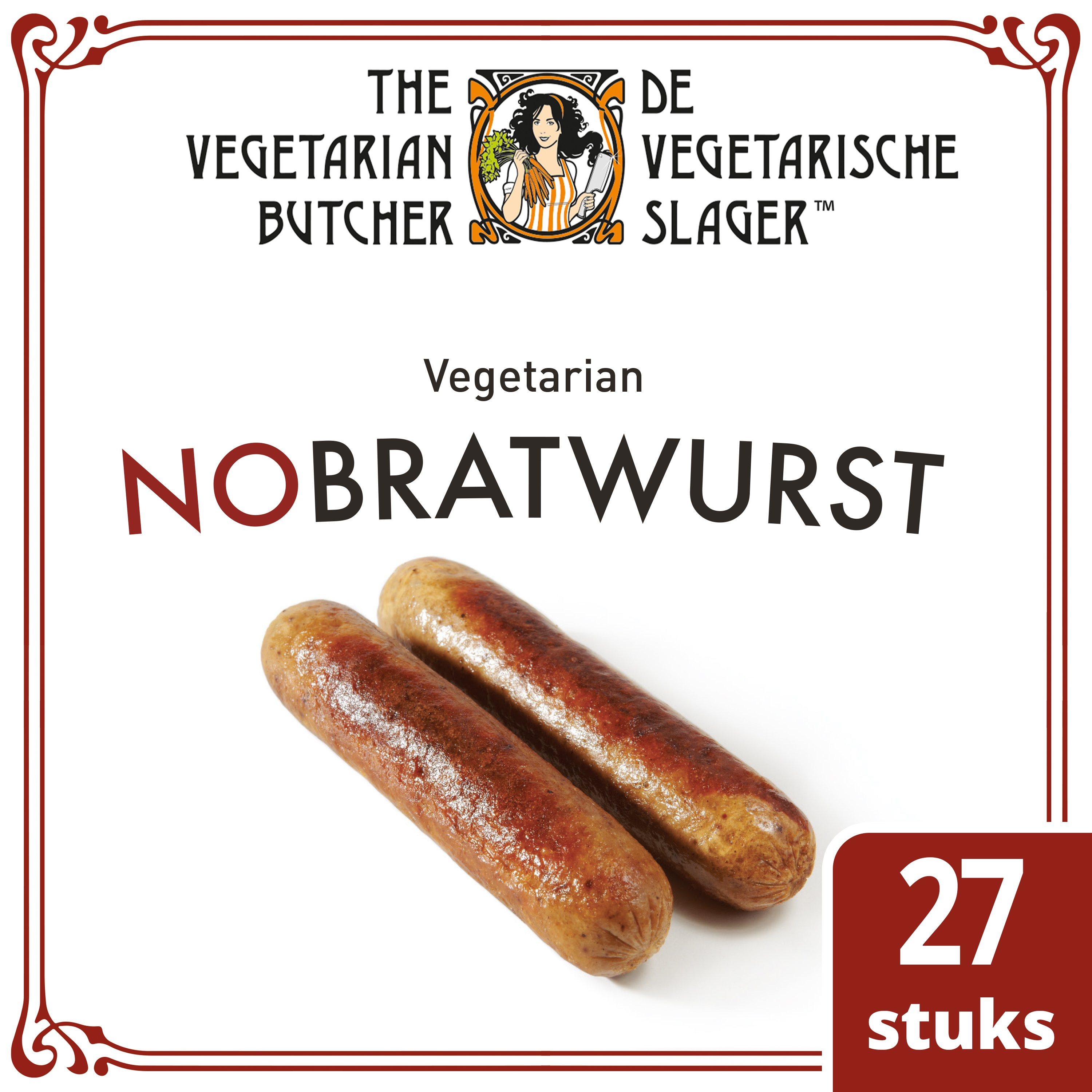 The Vegetarian Butcher NoBratwurst 2.16 kg -